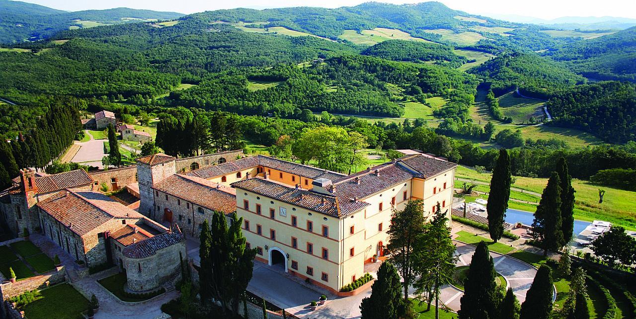 Castello di Casole Aerial View