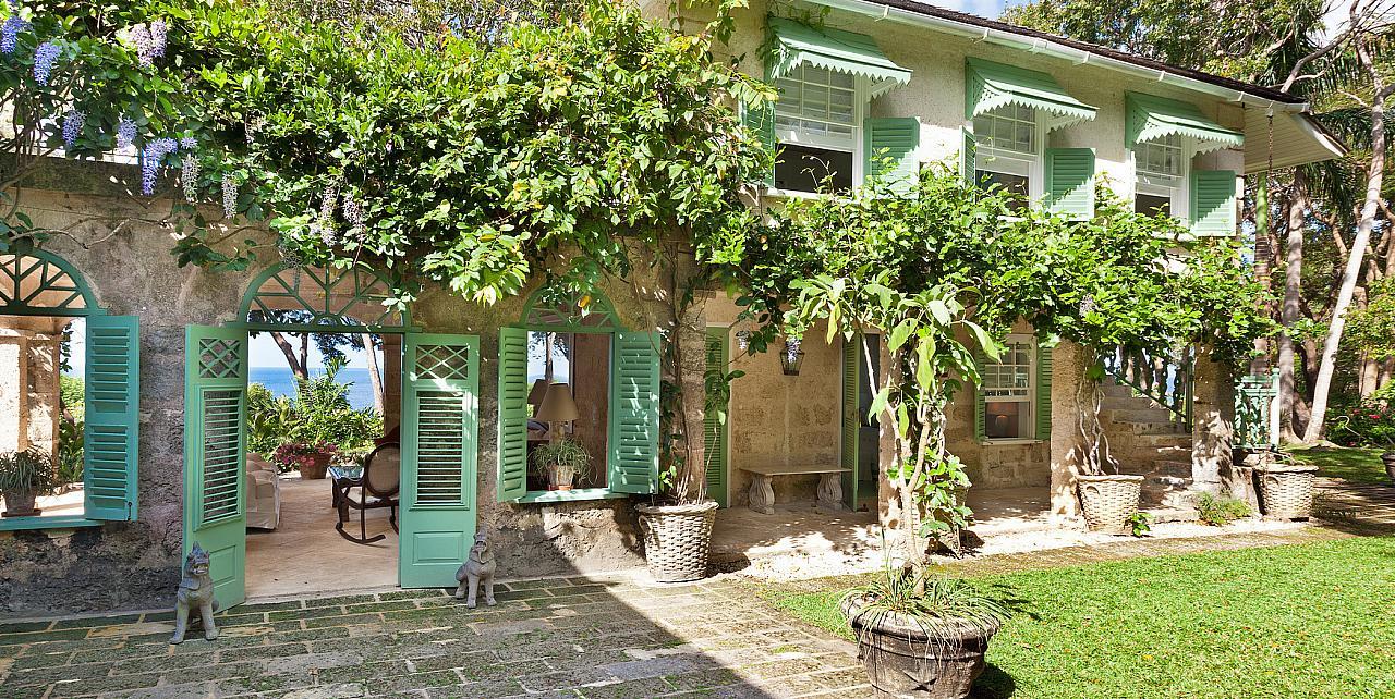 Barbados, Fustic House - Entrance